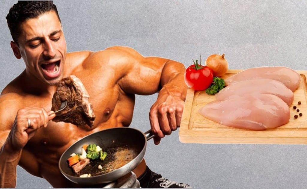 ăn nhiều ức gà tốt cho cơ bắp